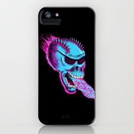 Sonic Skull - Blue Mayhem iPhone Case