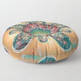 Split Cylinder Swirls Floor Pillow