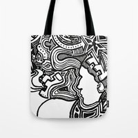 techno Tote Bags featuring Techno by Madison R. Leavelle