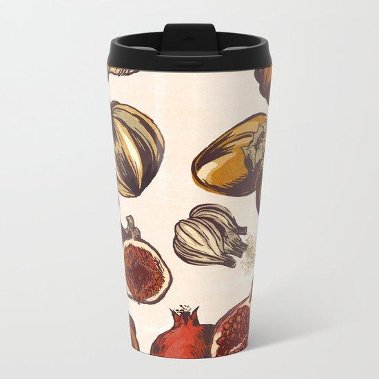 Fall Produce Metal Travel Mug