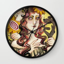 Queen of Wands Wall Clock