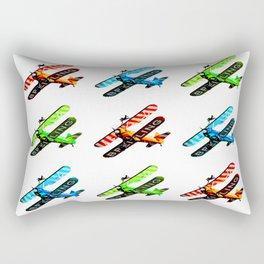 Breitling Wingwalker High Contrast Sunderland Air Show 2014 Rectangular Pillow