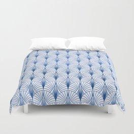 Turquoise Light Blue Art Deco Pattern Duvet Cover