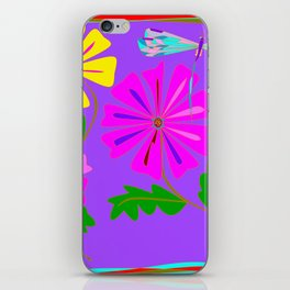 A Spring Floral Design with a Dragonfly iPhone Skin