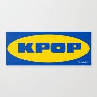 kpop Canvas Prints featuring Blue KPOP by Factorialist
