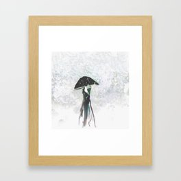 Showing Off in Emerald Framed Art Print