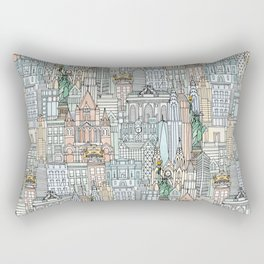 New York watercolor Rectangular Pillow
