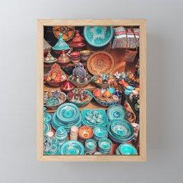 Moroccan bazaar Framed Mini Art Print