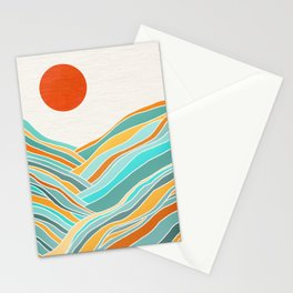 Abstract Sunset Landscape II Stationery Cards