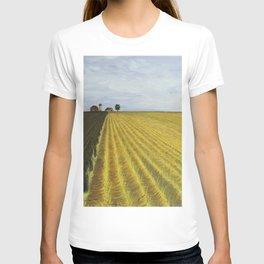 Alone, Farm, Acrylic on Canvas T-shirt