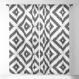 Tribal W&B Sheer Curtain