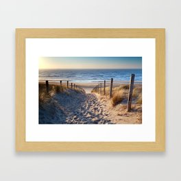 Way to the sea Framed Art Print
