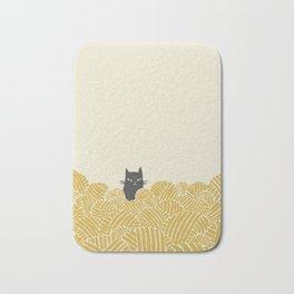 Cat and Yarn Bath Mat