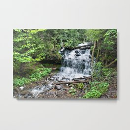 Wagner Falls, Munising, Michigan Metal Print