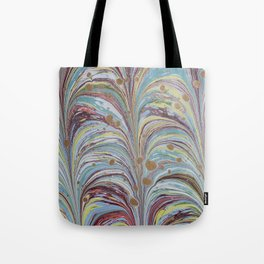 Marbled Multicolor Fountain Tote Bag
