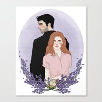 derek hale Canvas Prints featuring Derek Hale/Lydia Martin by vulcains