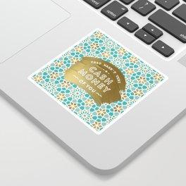 Cash Money – Mint & Gold Palette Sticker