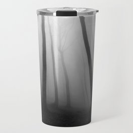 The Eerie Forest (Black and White) Travel Mug