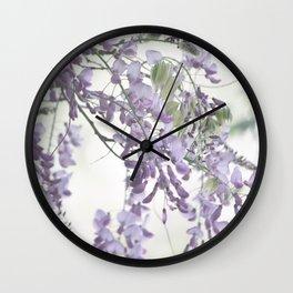 Wisteria Lavender Wall Clock