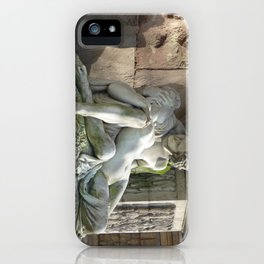 Medici Fountain Lovers - Acis and Galatea iPhone Case