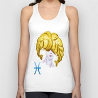 pisces Tank Tops featuring Pisces by Aloke Design