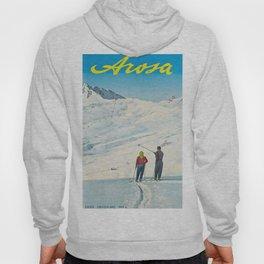 Swiss Vintage Ski Travel Poster Hoody