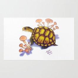 Box Turtle - Peach Mushrooms Rug