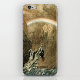 "Arthur Rackham Watercolor for Wagner's ""The Ring"" iPhone Skin"