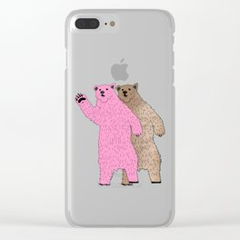 Build A Bigger Bear, Catch a Load of Salmon Clear iPhone Case