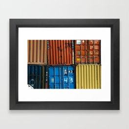 Pointe St. Charles Shipping Closeup Framed Art Print