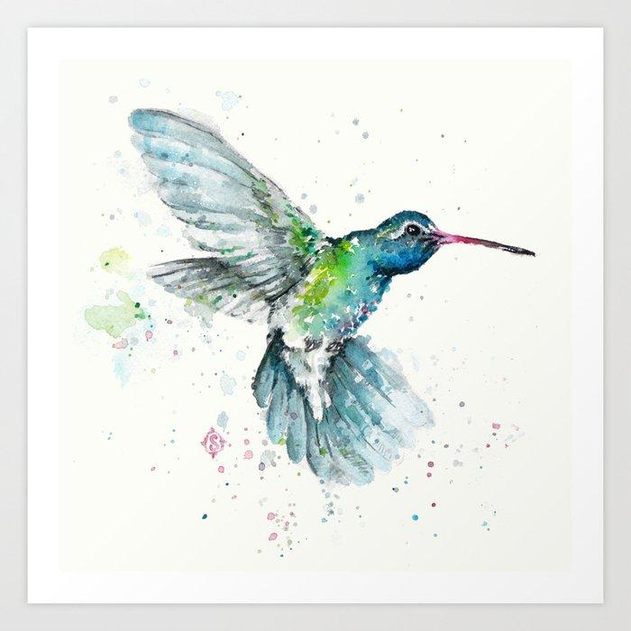 Hummingbird Flurry Kunstdrucke