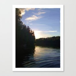 Shining by a Lake Canvas Print