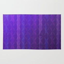 Royal Purple with Distressed Stripes Rug
