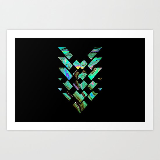 Tri Punch Fitted Art Print