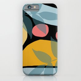 Mid Century Geometric pattern with leaves #society6 iPhone Case