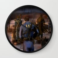 fallout Wall Clocks featuring Fallout Tribute by Hetty's Art
