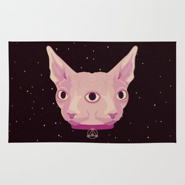 Two-Faced Sphynx From Outer Space Rug