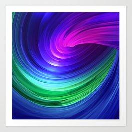 Twisting Forms #5 Art Print