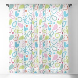 Colorful Lovely Pattern XII Sheer Curtain