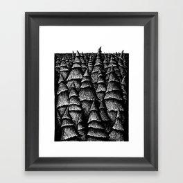 Beyond The Trees Framed Art Print