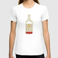 wine T-shirts featuring wine bottle by Marco Recuero