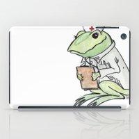 nurse iPad Cases featuring Nurse Frogly by Sharayah P