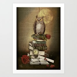 The Bibliophile - (the lover of books) Art Print