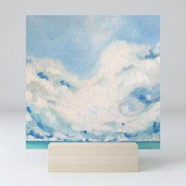 white blur Mini Art Print
