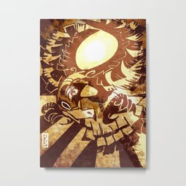 Woodcut style HO-OH Metal Print