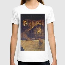 Francesco Hayez - Self-portrait with Tiger and Lion T-shirt