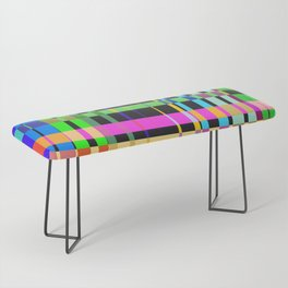 inclined coloured stripes Bench