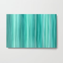 Ambient 5 in Teal Metal Print