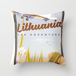 lithuania For an adventure Throw Pillow