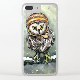 Winter Owl Clear iPhone Case